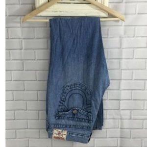 True Religion Women's Wide Leg Flare Trouser Jeans